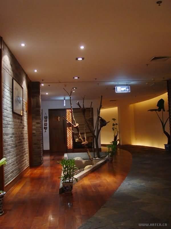 木地板的现代风格茶馆