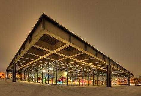 密斯·凡·德罗作品-柏林新国家美术馆