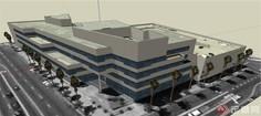 某地现代三层办公楼建筑设计SU模型螺栓大师如何绘制草图图片