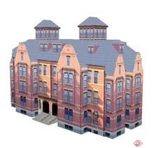 四层办公楼建筑设计SU模型活页夹设计图片