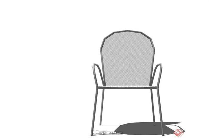 现代简约玻璃椅子设计su模型[原创]图片