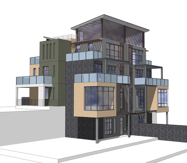 现代风格独栋山地别墅方案sketchup模型