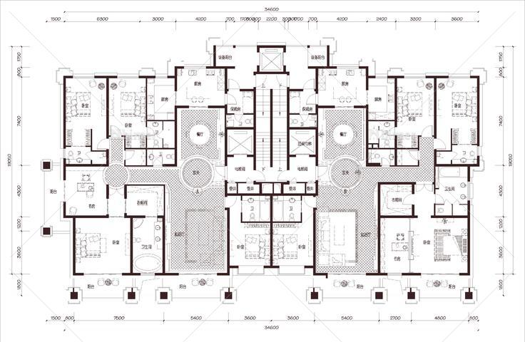 安徽 绿地 合肥绿地内森庄园 1梯2户 33层 户型