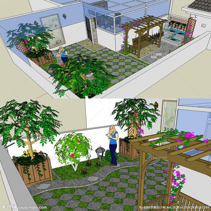 屋顶小花园的设计草图图片图片