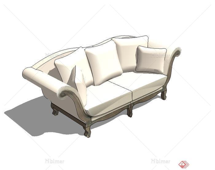 欧式风格室内沙发设计su模型[原创]