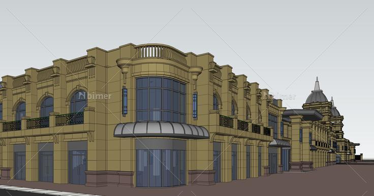 欧式古堡公共建筑sketchup模型