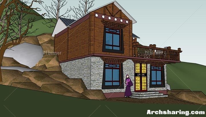藏式山地别墅图片