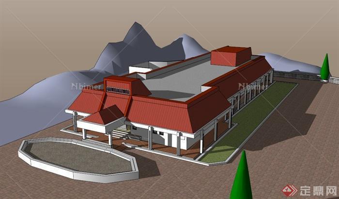 某模型建筑设计su画廊v模型医院建筑设计研究院图片