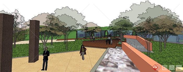 某微模型绿色景观su公园[原创]v模型盒地形包装设计图片