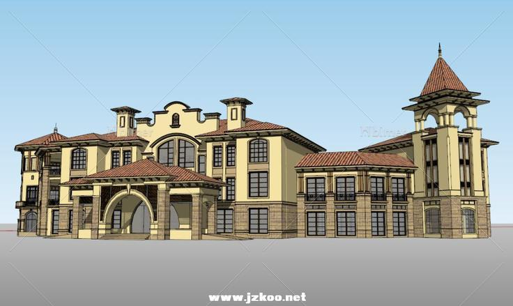 欧式古典建筑,三层图片