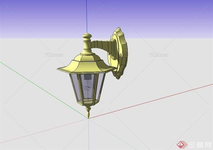 欧式风格壁灯设计su模型