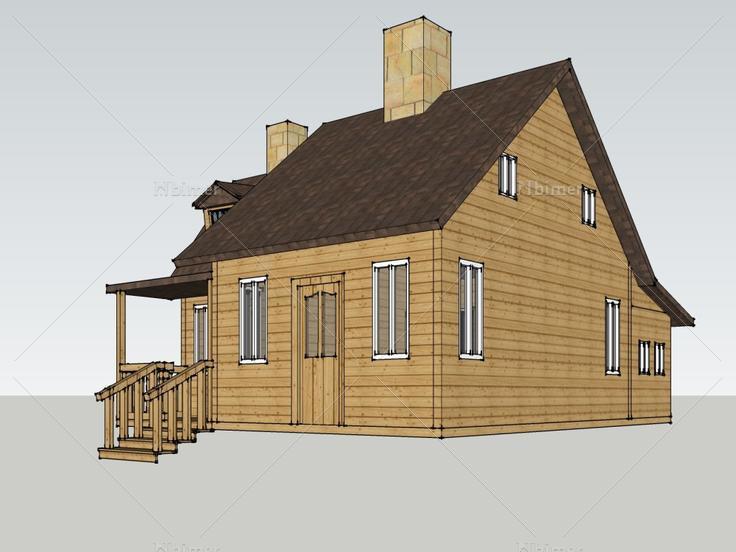 小风格,现代主义别墅,1层凯里独栋木屋图片