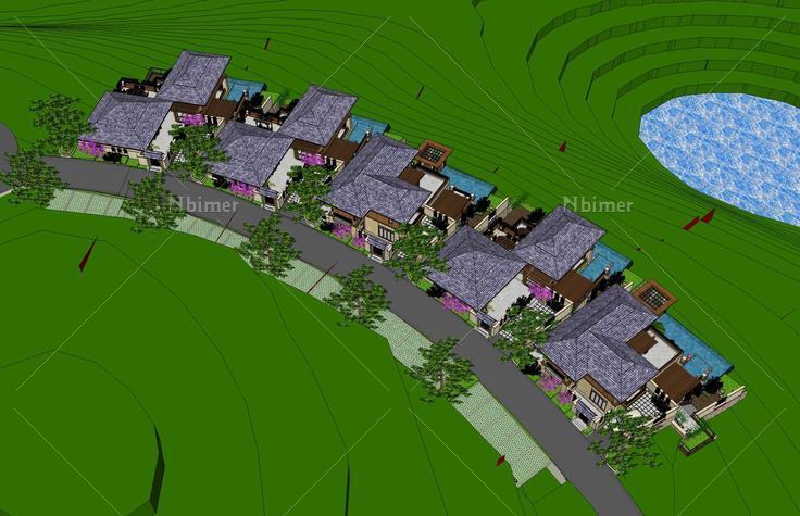 东南亚模型坡地v模型风格(40311)su卧室下载别墅别墅欧式装修图片