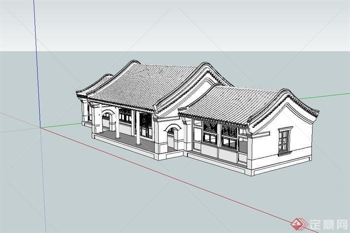 古典四合院住宅古建筑su模型[原创]