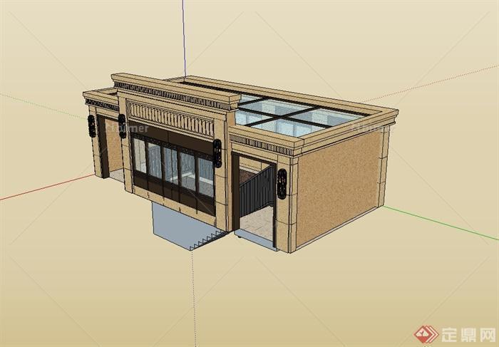 某現代風格人防地下室出入口設計su模型,模型為現代風格,模型有材質貼圖,具有很好的使用價值,歡迎下載。