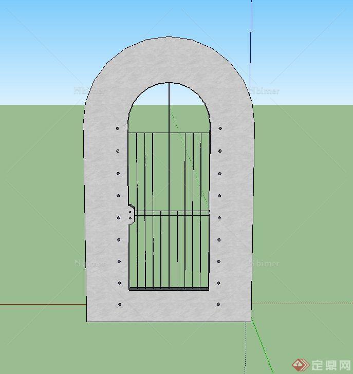 铁门贴图矢量图