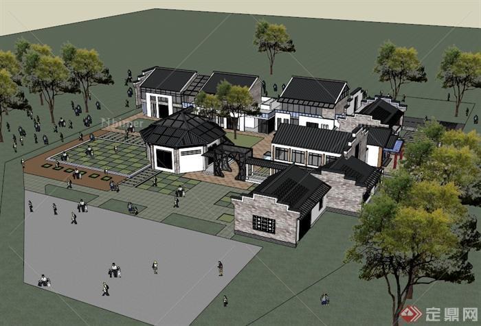 微派幼儿园精致详细建筑楼设计su模型[原创]图片