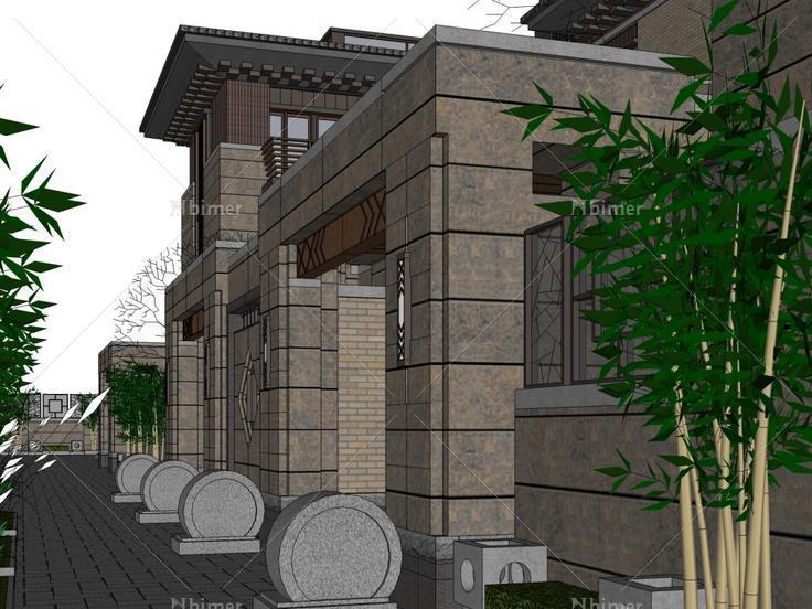 合院住宅,现代主义风格,3层图片
