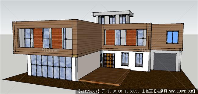 图纸作业设计模型+SU图纸别墅样子页岩砖上的烧结图片