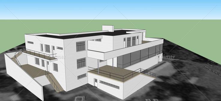 现代风格办公楼(53053)su模型下载