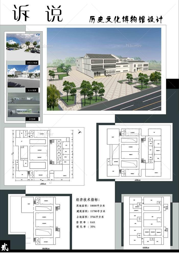 某历史文化博物馆建筑设计( jpg展板,psd展板