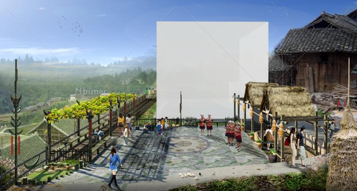 村寨建筑设计方案多图欣赏带sketchup模型下载分