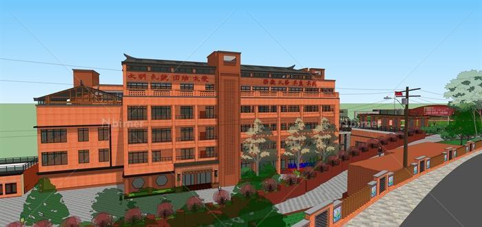 重庆市某中学建筑设计su家具[原创]模型模具设计图片
