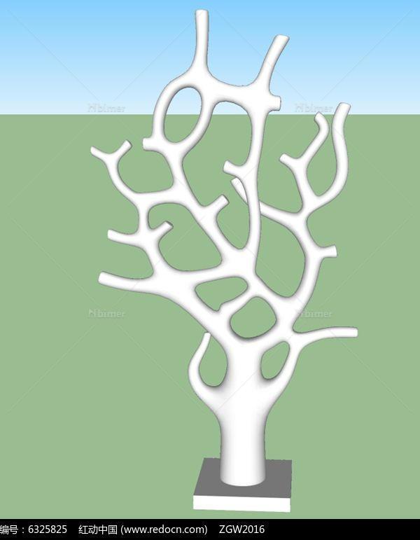 石头雕塑,现代雕塑小品,雕塑小品设计,树干上的小鸟,校园雕塑小品