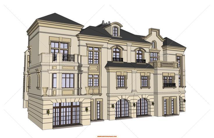 (原创)发几个别墅建筑单体模型,各种风格都有