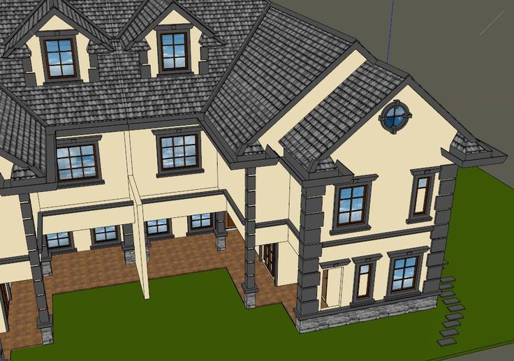 别墅细节,坡屋顶,二层别墅丰富.屋顶跃层比较九天地局部源图片