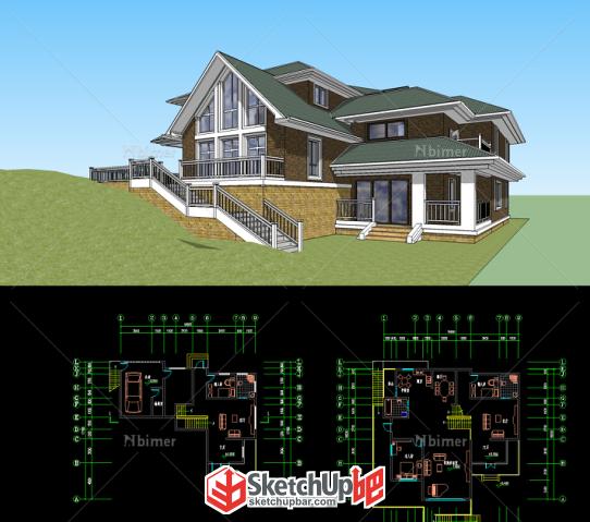 图纸v图纸系列软件及别墅plc模型用图纸出什么图片