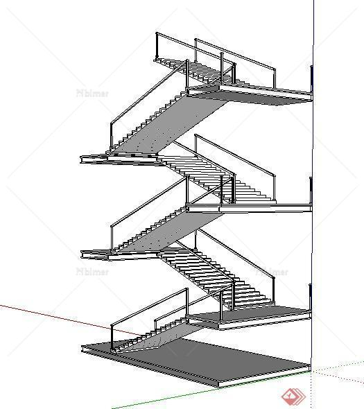 一个人上楼梯的简笔画