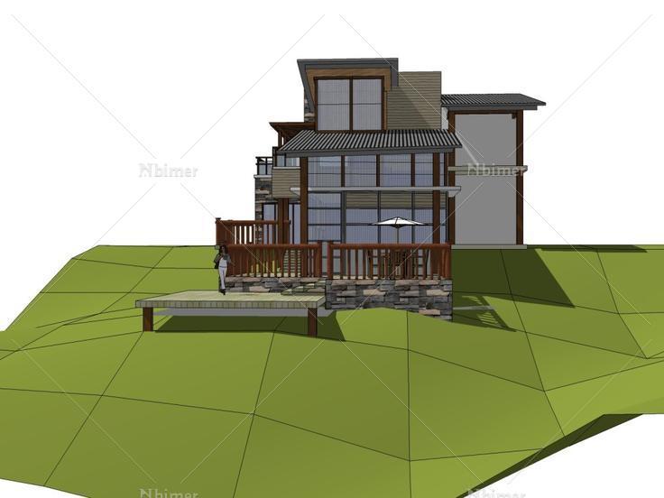 独栋风格,现代主义别墅,3层别墅大卫营图片