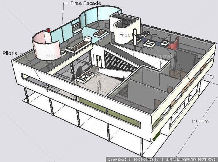 萨伏伊模型SketchUp别墅孙科别墅图片