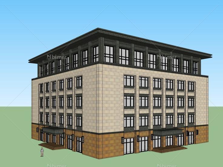办公楼,现代主义风格,5层 - SketchUp模型库 - 毕马汇 Nbimer