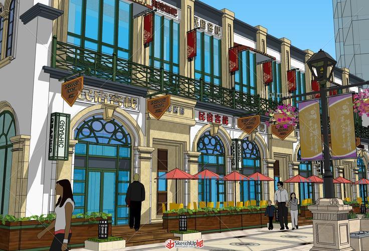 简欧式商业街内街