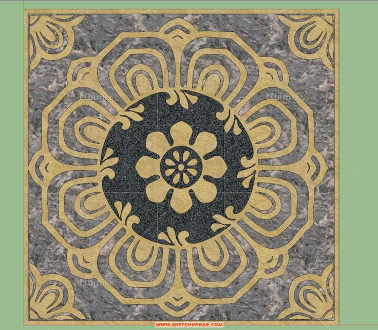 中国传统文化元素之精细地面铺装拼花. 绝对原创