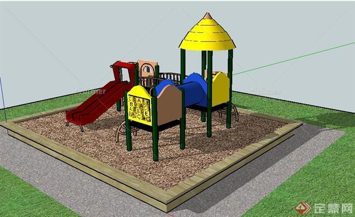 儿童娱乐沙坑及游乐设施su模型