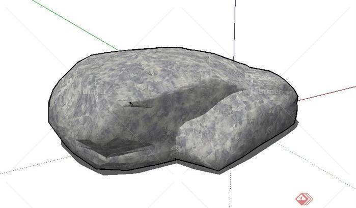 园林景观石头造型设计8sketchup(su)3d模型百度uiv石头到哪里学比较好图片