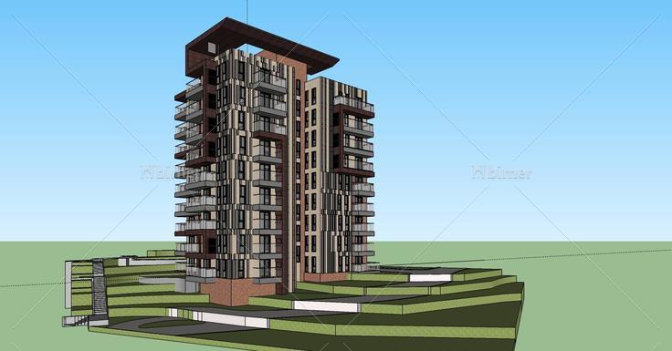 ss80199灪/i���yn�Y��x�p_现代小高层住宅楼(80199)su模型下载 - sketchup模型