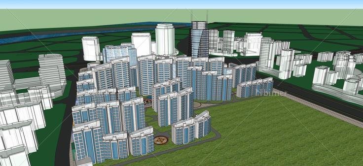 沿海城市规划(47090)su模型下载