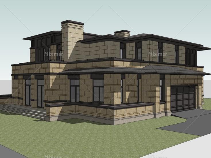 别墅,现代主义风格,2层图片