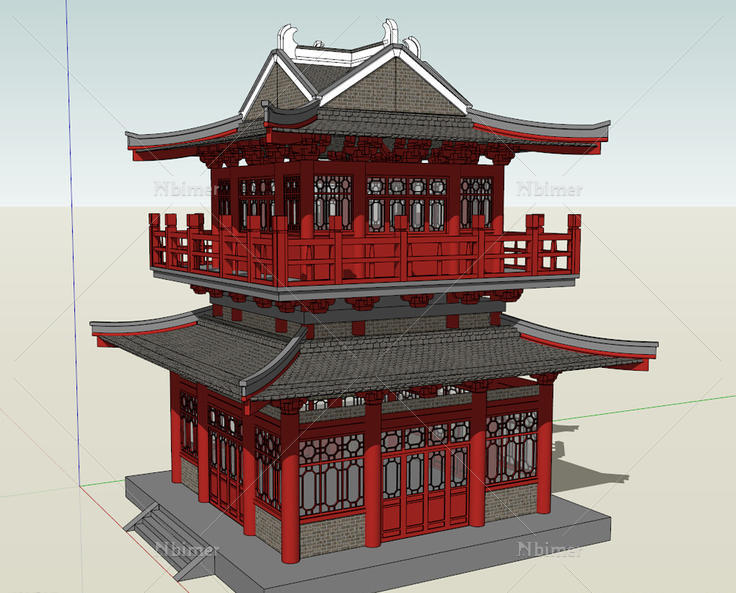 古代四合院设计素材
