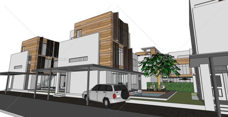 别墅,现代风格,3层图片