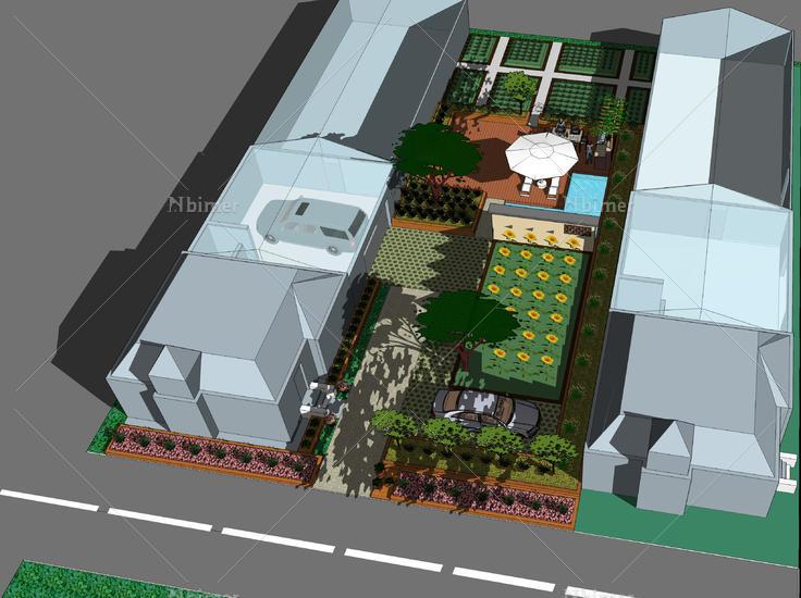 农家生态大棚庭院设计