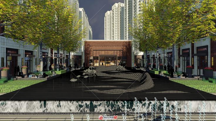 商业街入口设计