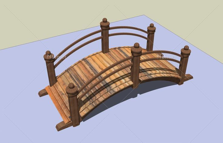 小木桥(44897)su模型下载