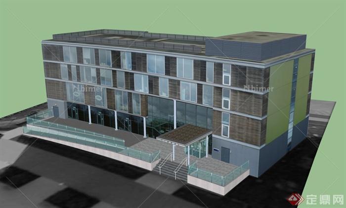 某四层办公楼建筑设计SU模型四川中瀚建筑设计图片
