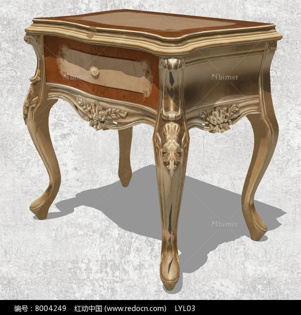 欧式宫廷床头柜