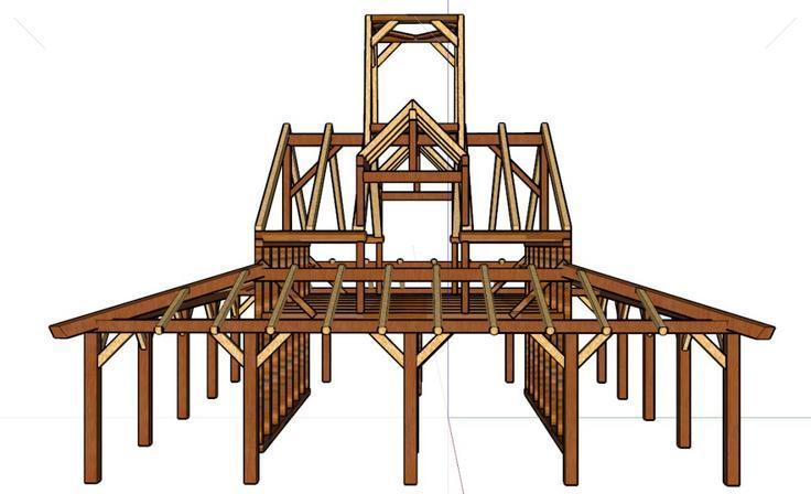 建筑木结构框架